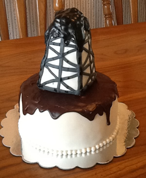 Oil Rig Cake by Cubby Cakes