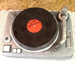 Technics Record Player Cake